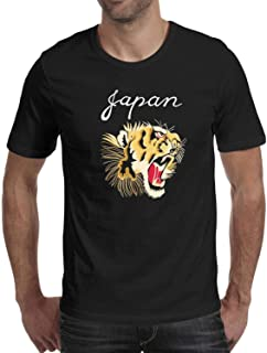 Green Vintage Tiger Head Men Stylish Shirt SmoothShort Sleeve Casual Blouse Daily Gym t Shirts for Men