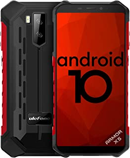 Telefono Móvil Libre Resistente,Ulefone Armor X5 Android 10 4G Octa-Core 3GB+32GB - 5.5'' HD Resistente IP68 Impermeable S...