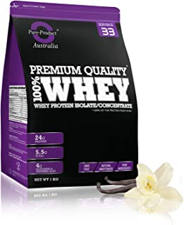 Pure Product Australia Whey Protein Isolate and Concentrate Powder, Vanilla 1 kilograms