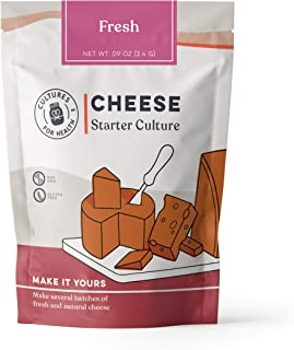Fresh Cheese Starter Culture | Cultures for Health | Delicious, homemade neufchatel, chevre, cottage cheese, and more | No maintenance, non-GMO