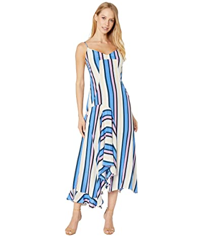 ASTR the Label Ellen Dress (Periwinkle Multi Stripe) Women