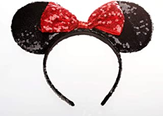 OBUY Red Mickey Ears, Minnie Mouse Ears,Adult red Ears,mice Ears Minnie Mouse Ears,Rainbow Minnie Mouse Ears, Sparkly Minnie Ears, Mouse Ears