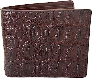Men's Bifold Backbone Leather Dark Brown Wallet