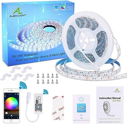 m 24 cl/és /à t/él/écommande dIR pour l/éclairage Cabinet r/étro-/éclairage TV Kreema Contr/ôleur de RVB WiFi lumi/ère Bande LED 5M SMD 5050 30LEDs