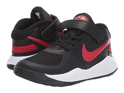 Nike Kids Flyease Team Hustle D 9 (Little Kid) (Black/University Red/White) Kids Shoes