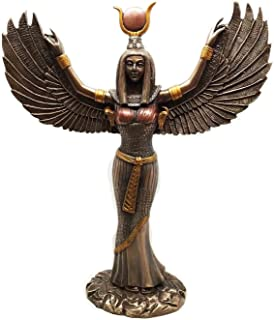 """Ebros Gift Egyptian Goddess Isis Ra with Open Wings Statue 12"""" Tall Deity of Motherhood Magic Wisdom and Nature Home Decor..."""