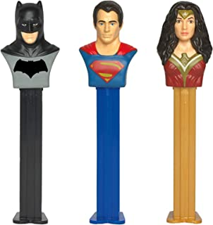 PEZ Candy DC Justice League Dispenser Set: Batman, Superman, and Wonder Woman (Set of 3 Candy Dispensers)
