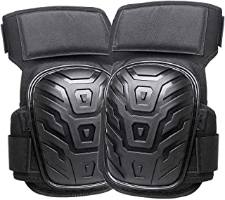 Professional Knee Pads for Work,Reehi Heavy Duty Foam Padding Construstion Knee Pads with Comfortable Gel Cushion,Knee Pads Suitable for Construction,Gardening,cleaning