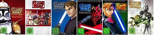 Star Wars: The Clone Wars Staffel/Season 1+2+3+4+5+6 * DVD Set