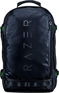 Razer Rogue V3 17.3 Black Edition Mochila de Viaje Compacta, Compartimento para Portátiles de hasta 17 Pulgadas, Resistente a la Abrasión, Carcasa Exterior de Poliéster, Color Negro