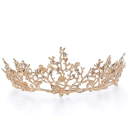 Czemo Tiara di Sposa Principessa Corona di Cristallo con Strass Accessori per Capelli per la Cerimonia Nuziale