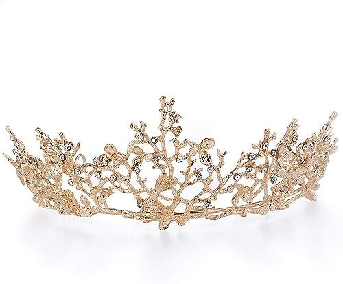 """Nuziale Donna//Ragazze Grande 4.5/"""" le ragazze Sparkly Gold per capelli Molletta"""