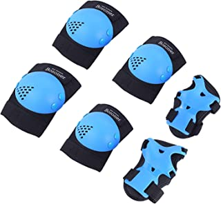 BOSONER Kids/Youth Knee Pad Elbow Pads for Rollerblade Roller Skates Cycling BMX Bike Skateboard Inline Rollerblading, Skating Skatings Scooter Riding Sports