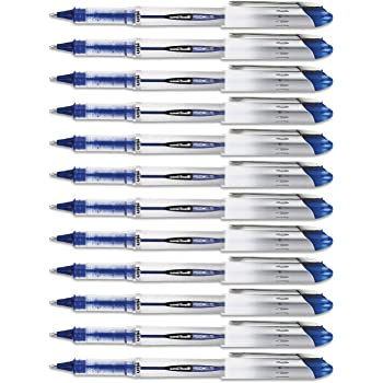 Uni-Ball Vision Elite Stick Rollerball Pen, 0.8mm, Bold Point, Blue Ink, 12-Count