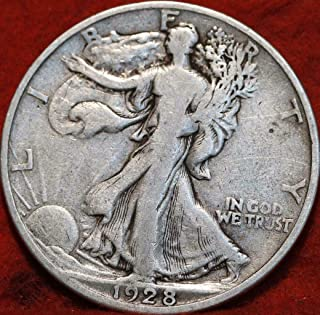 1928 S Walking Liberty 90% Silver Half Dollar VG and Better Full Rim and Full Date US Mint