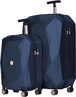 "kensie Women's 3D Gemstone TSA Lock Hardside Spinner Luggage, Midnight Blue, 2 Piece Set (28""/20"")"