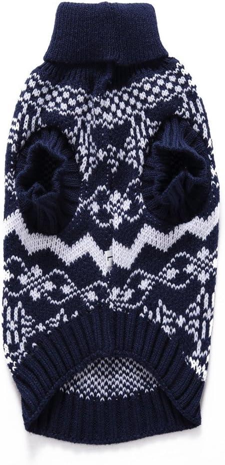 Armada,XL Navidad Su/éTer de Copo de Nieve para Mascota Chihuahua Gatos Yorkshire Pomerania Baohooya Ropa Perro Peque/ño Invierno Chaleco de Algod/ón