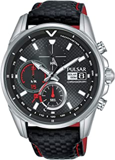 PULSAR Men's Analogue Quartz Watch with Leather Strap 8431242963518