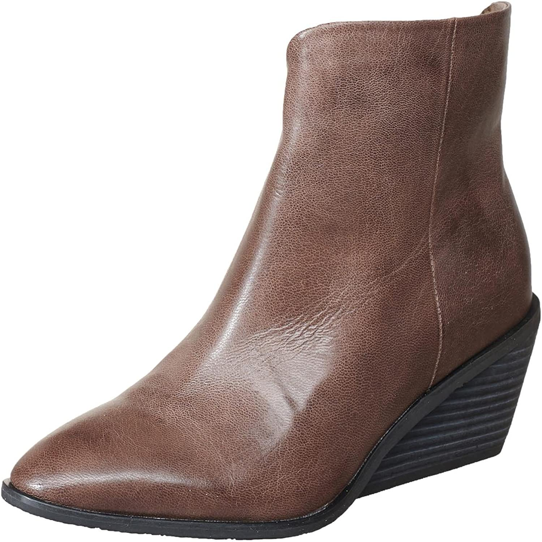 Antelope Women's 581 Grey Leather Nu Wedge Bootie 41