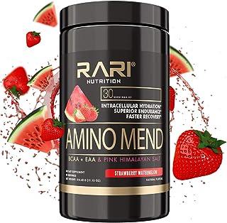 RARI Nutrition - Amino MEND - 100% Natural BCAA/EAA Powder + Pink Himilayan Salt - Vegan and Keto Friendly - Endurance and...