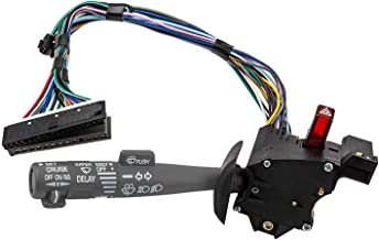 Multi-Function Combination Switch Assembly for Chevy Tahoe, Blazer, Suburban, K1500, Sierra & more, Replace# 2330814 26100985 26036312, Turn Signal, Wiper, Washers, Hazard Switch, Cruise Control
