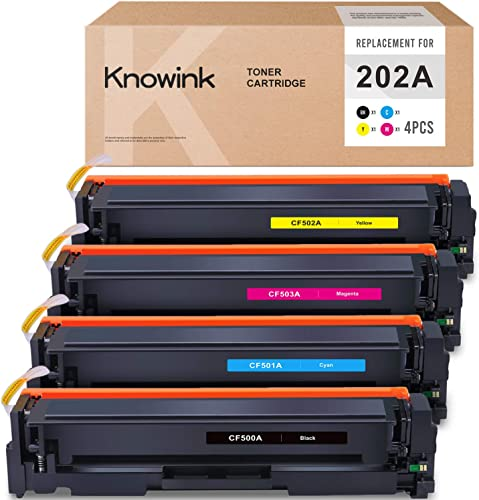 new arrival KNOWINK Compatible Toner Cartridge Replacement for outlet sale HP 202A CF500A CF501A CF502A CF503A for HP Color Laserjet Pro MFP M281fdw M254dw M281fdn M254nw M280nw high quality Toner (Black Cyan Yellow Magenta, 4-Pack) online sale