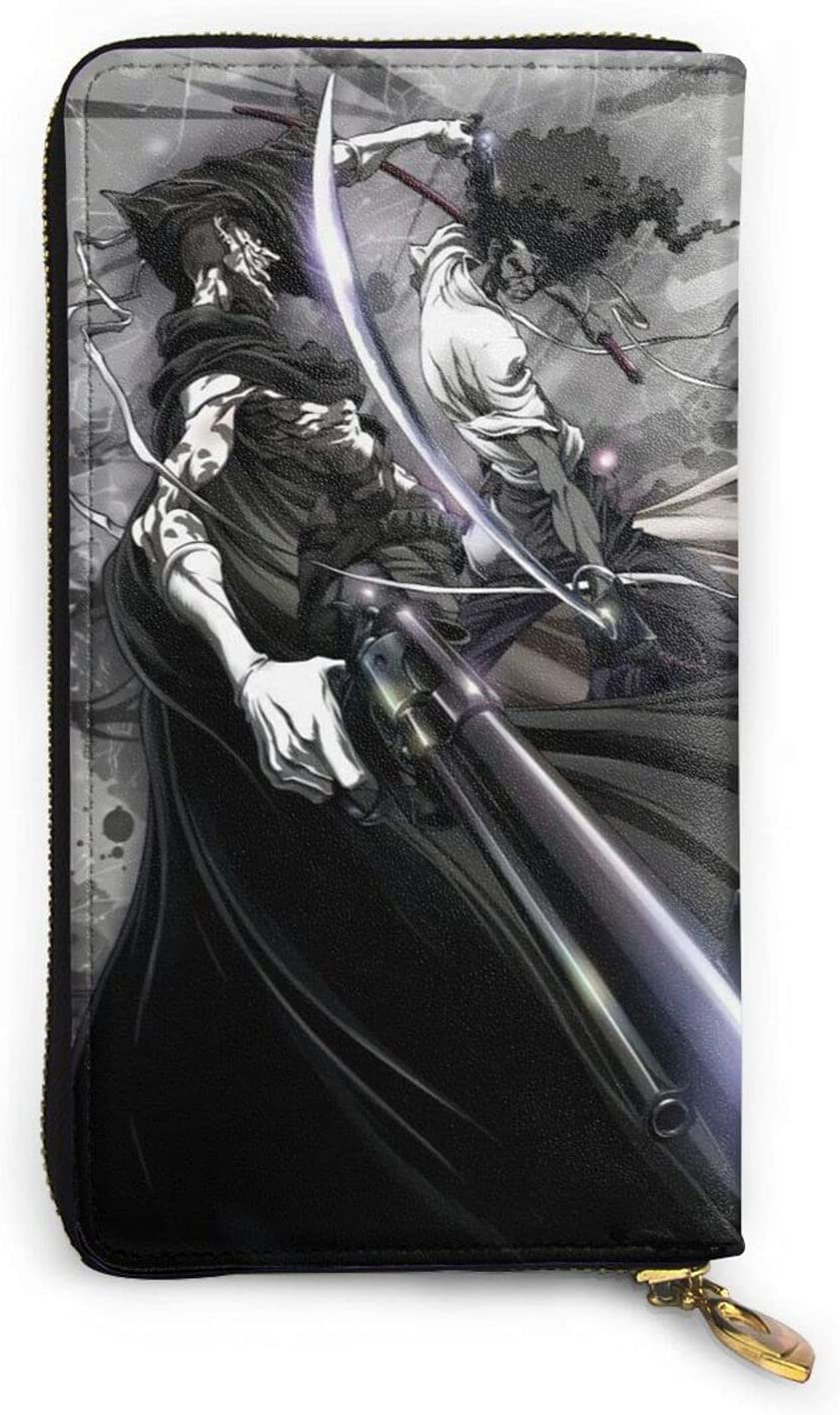 Afro Samurai Leather Wallet Zip For Long Max 83% OFF Purse Free shipping on posting reviews Men