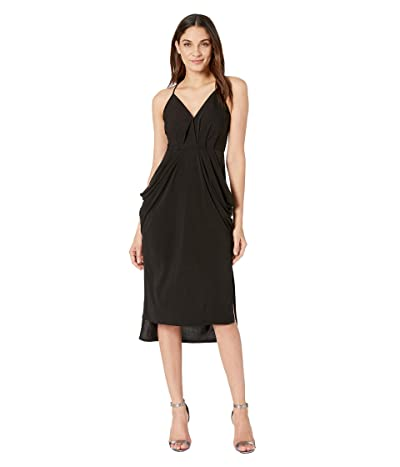 BCBGeneration Drape Pocket Midi Dress (Black) Women