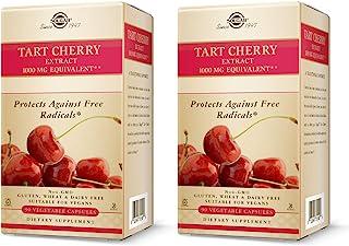 Solgar Tart Cherry 1000 mg, 90 Vegetable Capsules - 2 Pack - Antioxidant with Quercetin, Chlorogenic Acid & Anthocyanins C...