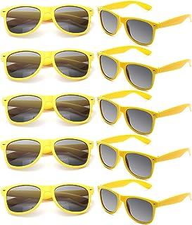 743cf6044e FSMILING Lot Lunettes de Soleil Femme Homme Protection UV400 Couleur Néon  Surlunettes de Soleil pour Fêtes