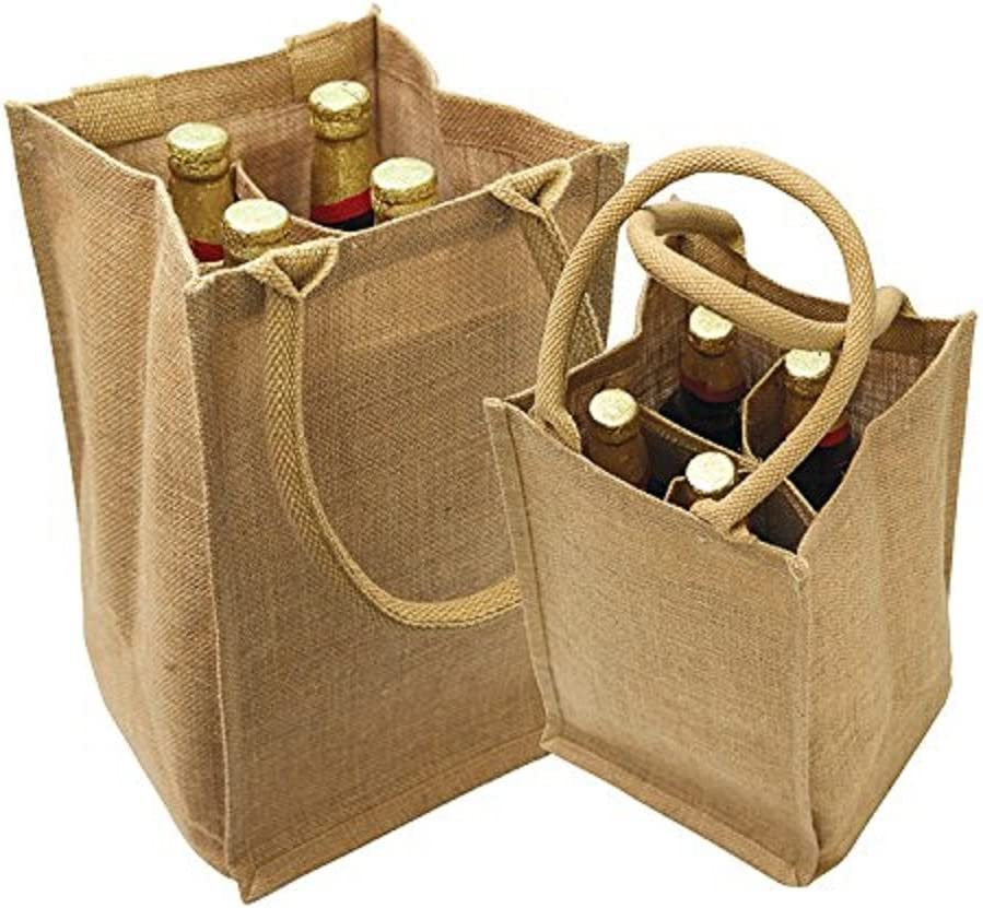 set of 4 bottles Jute Covered \u201cHOME\u201d Wine Bottles