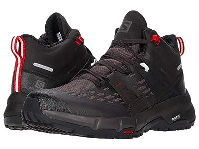 Salomon Odyssey Mid GTX(r) (Black/Shale/High Risk Red) Men