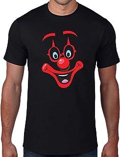 Camiseta día de la Nariz roja, Cara de Payaso Emoticono Divertido Alivio cómico IT Pennywise Regalo Parte Superior