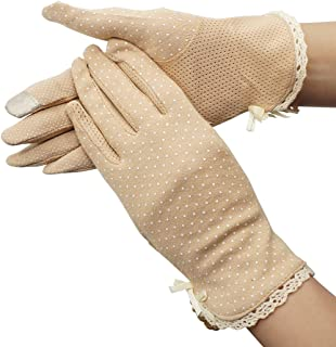 Women Screentouch Lightweight Sunblock Gloves Summer UV Protection Driving Cotton Gloves