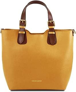TL Bag Saffiano leather handbag - TL141696 (Mustard)