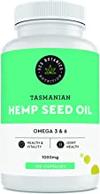 Hemp Seed Oil Capsules - Made in Australia - 1000 MG of All-Natural Hemp Oil from the Highest Quality Whole Hemp Seeds - Pain, Stress & Anxiety Relief – Joint and Skin Health – Natural Sleep & Mood Support - Extra Strength, Maximum Value - Rich in Omega 3, 6, 9 - 120 Capsules