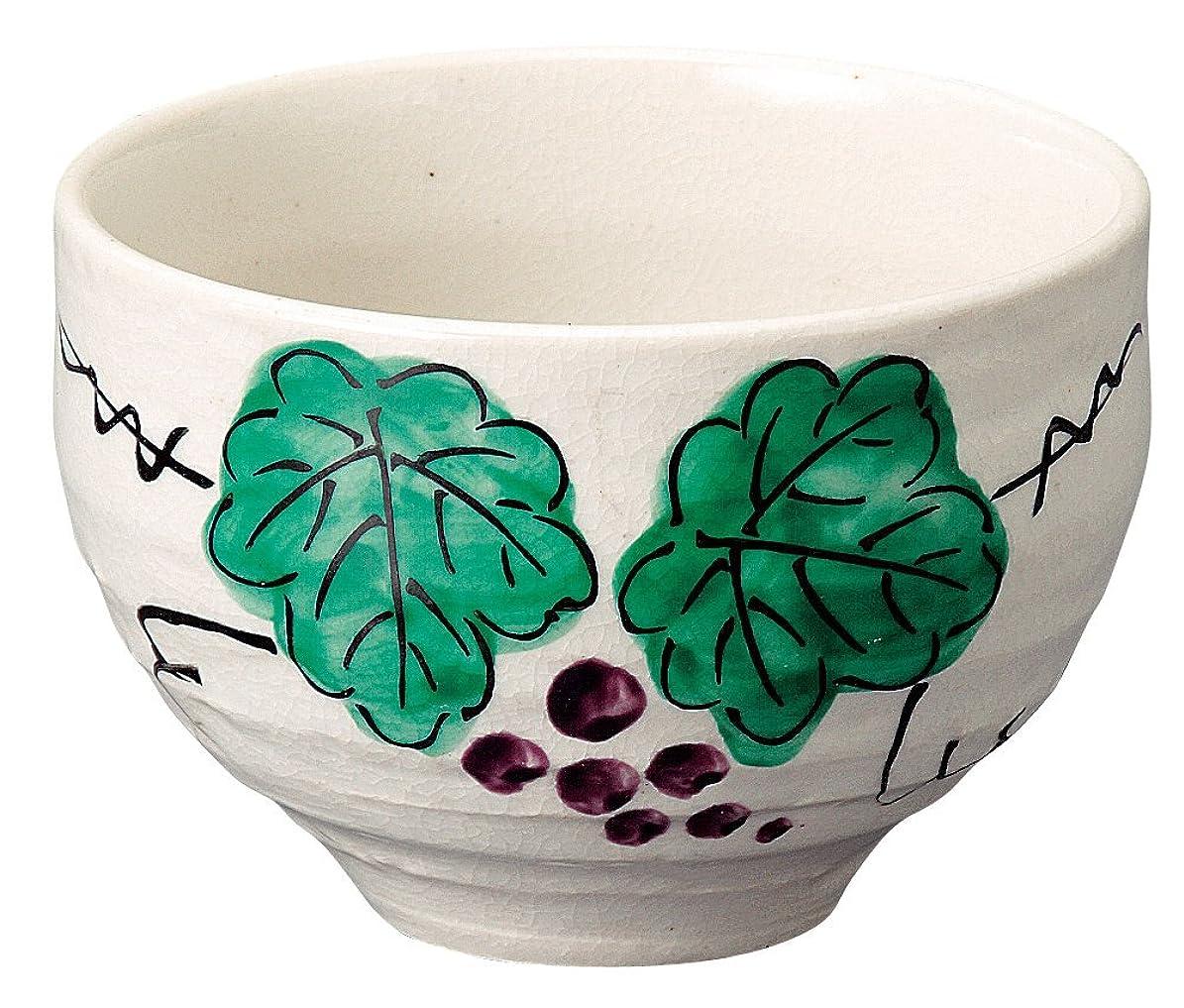 説教する季節水を飲む宗峰窯 湯のみ ぶどう 一服碗 φ10×6.8cm 502-09-493