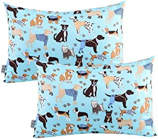Best UOMNY Kids Toddler Pillowcases 2 Pack 100% Cotton Pillowslip Case Fits Pillows sizesd 13 x 18 or 12x 16 Bedding Pillow Cover for Sleeping Kids Bedding Pillow Cover Dog Kids