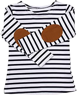 Clearance Sale Baby Clothes Toddler Kids Boys Girls Stripe Long Sleeve O-neck Tunic Tops T-Shirt Blouse