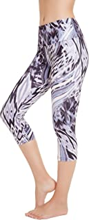 Picotee Women's Digital Printed Yoga Capris High Waist Workout Pants Running Leggings with Hidden Pocket