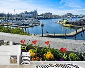 T-ShirtFrenzy Spring Flowers in Victoria BC Downtown Canvas Print Wall Mural Wall Decal Peel & Stick Self-Adhesive Wall St...