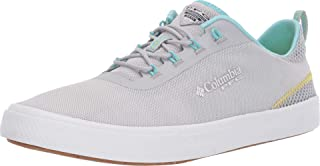 Columbia Women's Dorado PFG Boat Shoe, Silver Grey, Coastal Blue, 6