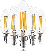 Led bulbs, YWXLIGHT, E12 4W Warm White Cool White Glass Shell LED Candle Light Edison LED Filament Lamp LED Bulb AC 100-13...