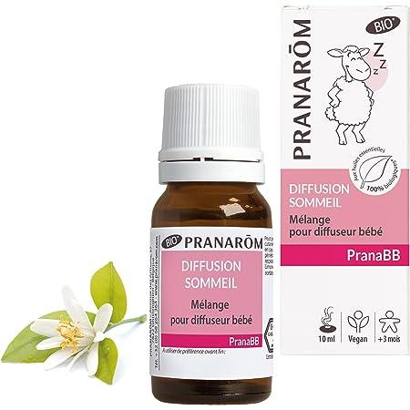 Pranarôm  Pranabb Diffusion Sommeil Bio (Eco) Mélange Huiles Essentilles Biologiques pour Diffuseur Spécial Bébé 10 ml
