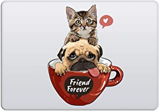 Laptop Stickers MacBook Decal - Removable Waterproof Transparent Vinyl - Cat & Dog Best Friends Love Animal Decal Skin for...