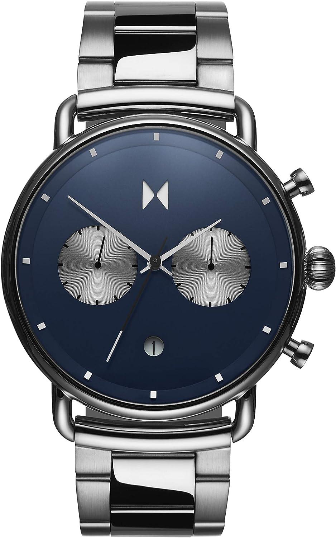 MVMT Reloj Analógico para Hombre de Cuarzo con Correa en Acero Inoxidable D-BT01-BLUS
