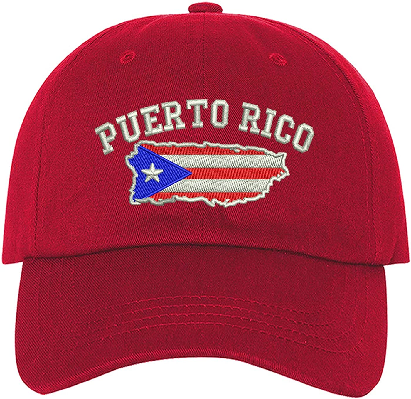 DSY Lifestyle Puerto Rico Map Baseball Cap - Boricua Baseball Hat Dad Hat Unisex