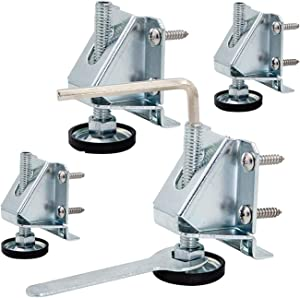 Leveling Feet/Heavy Duty Furniture Levelers Adjustable Table Leg Leveler w/Lock Nuts (4 Pack) for Furniture,Table, Cabinets, Workbench,Shelving Units and More.