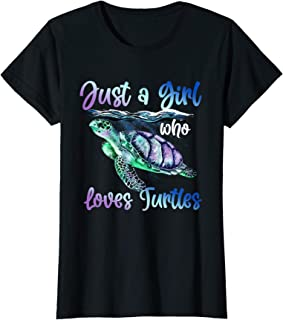 Sponsored Ad - Just A Girl Who Loves Turtles Watercolor Sea Ocean Cute Gift T-Shirt