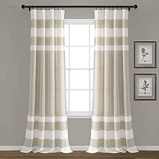 Lush Decor Cape Cod Stripe Yarn Dyed Cotton Window Curtain Panel Pair, 84